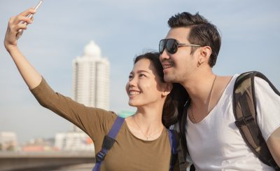 Selfie portrait of young man and woman by khunaspix courtesy of FreeDigitalPhotos.net.jpg