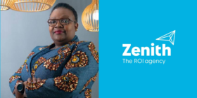 Sibongile Sibanda and Zenith Media logo