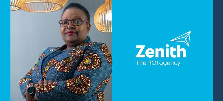 Sibongile Sibanda and Zenith Media logo