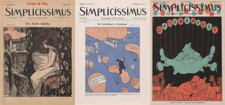 Simplicissimus, 1 1 1896, 12 20 1907 and 26 26 1927