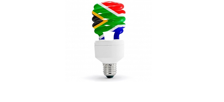 South African Flag on Energy Saving Lamp by domdeen courtesy of FreeDigitalPhotos.net amended for slider