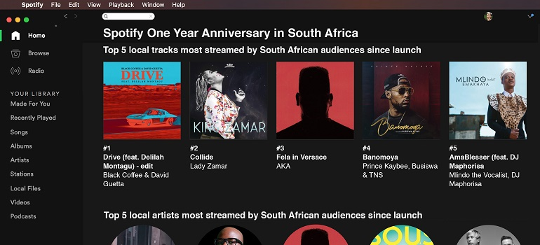 Spotify SA one-year