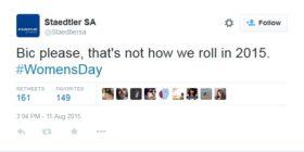 Staedtler SA response to BIC_SA Women's Day ad