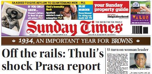Sunday Times front page cropped narrow