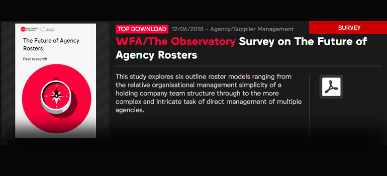 Survey on the future of agency rosters