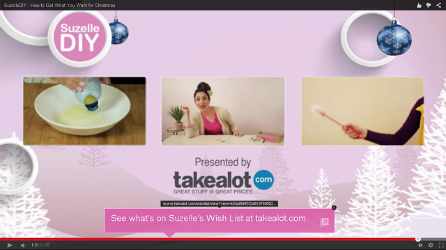 Suzelle DIY Christmas Special sponsored by Takealot