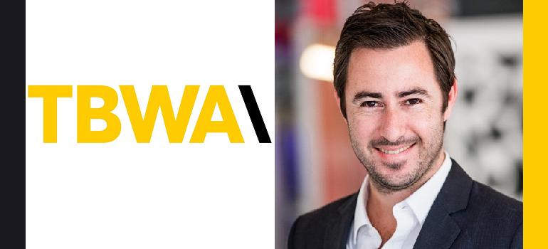 TBWA logo and Luca Gallarelli