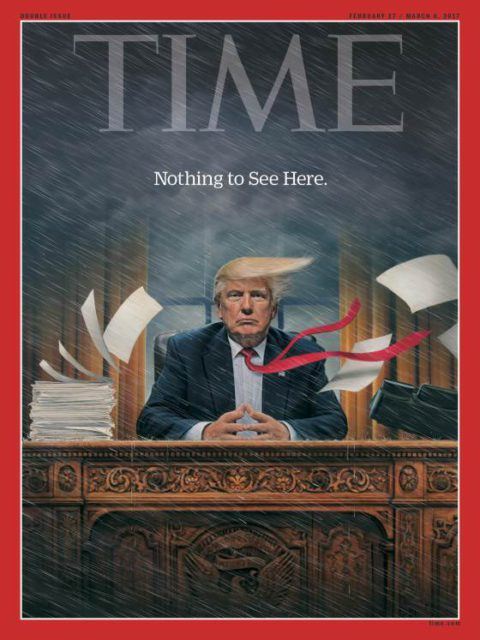 TIME, 27 February 2017: Donald Trump