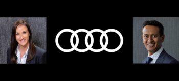 Tarryn Knight, Audi logo and Asif Hoosen