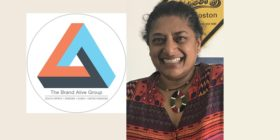 The Brand Alive Group logo and Dris Naidoo