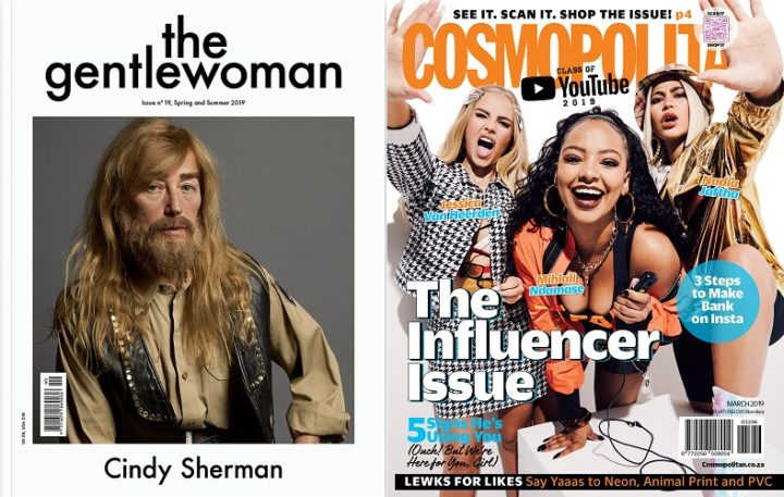 The Gentlewoman, issue 19, Spring/Summer 2019 and Cosmopolitan SA, March 2019