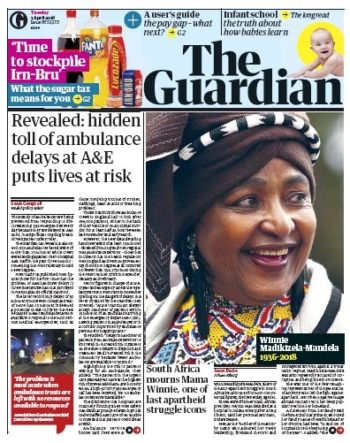 The Guardian, 3 April 2018 - Winnie Madikizela-Mandela