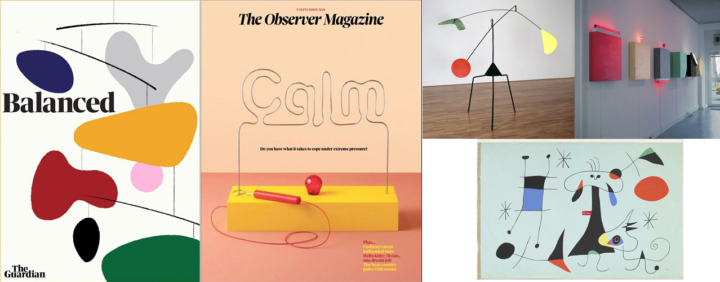 The Guardian Magazine, The Observer Magazine, Alexander Calder, Dan Flavin, Joan Miro