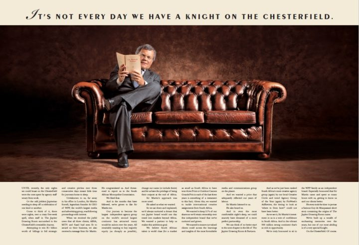 The Jupiter Drawing Room ad with Sir Martin Sorrell