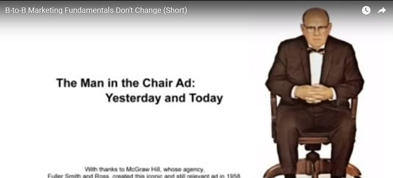 The Man in the Chair then and now YouTube screengrab