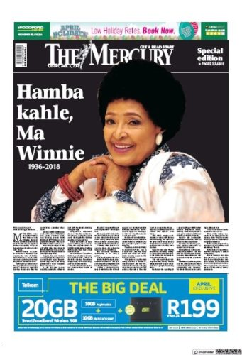 The Mercury, 3 April 2018 - Winnie Madikizela-Mandela
