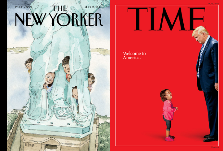 The New Yorker, 2 July 2018 and TIME, 2 July 2018 - Donald Trump