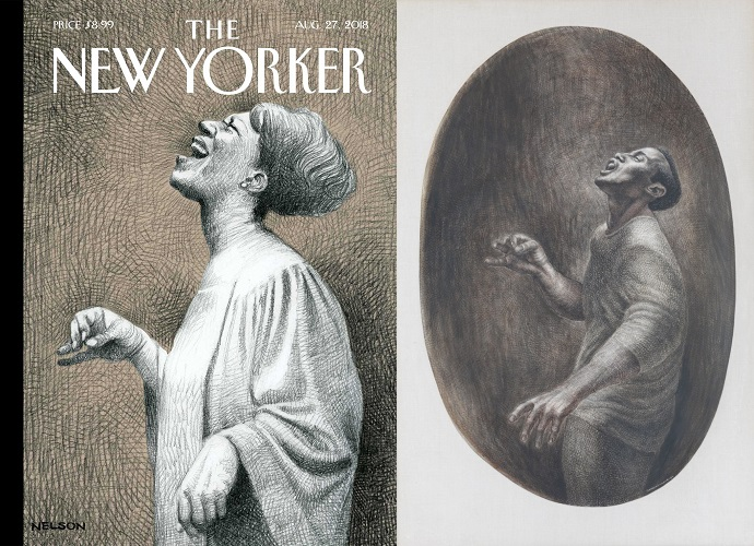 The New Yorker, 27 August 2018 - Aretha Franklin - and Folksinger by Charles White