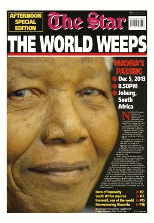 The Star front page 6 December 2013 — Madiba