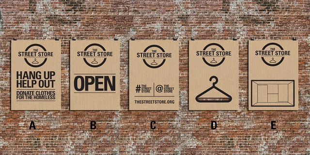 The Street Store posters in situ