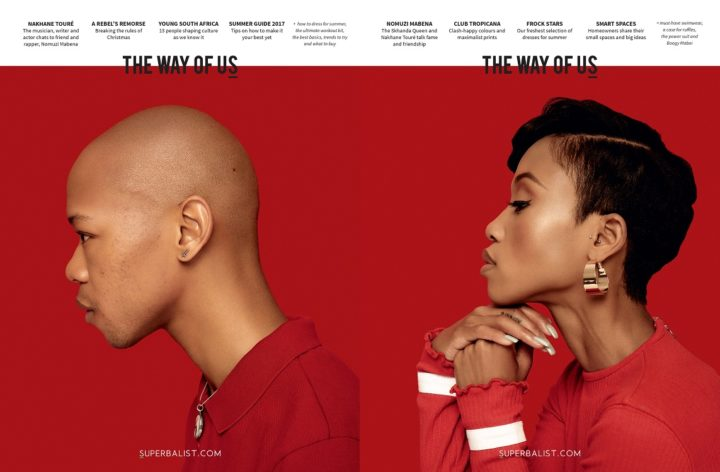 The Way of Us, Summer 2017, Men - Nakhane Touré - and Women - Nomuzi Mabena