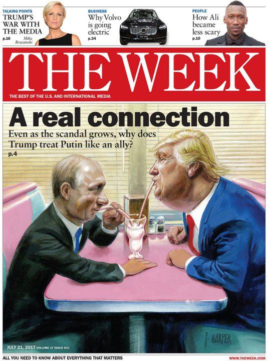 The Week, July 21, 2017 - Donald Trump and Vladimir Putin