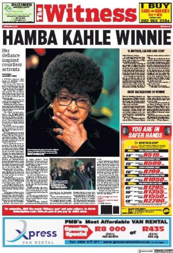 The Witness, 3 April 2018 - Winnie Madikizela-Mandela