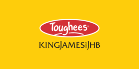 Toughees logo and King James Group JHB logo