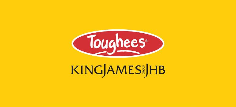 Toughees logo and King James Group JHB logo