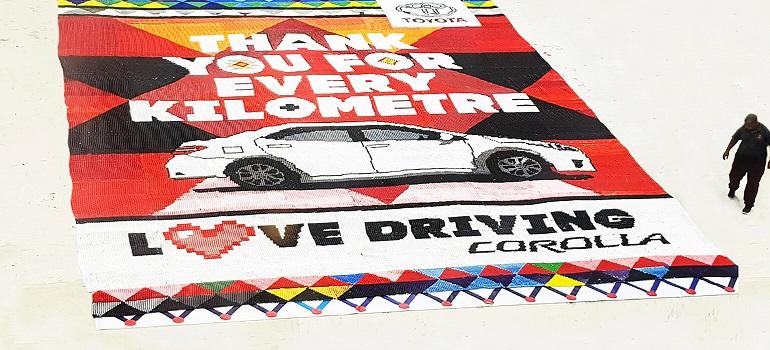 Toyota Corolla beaded love letter
