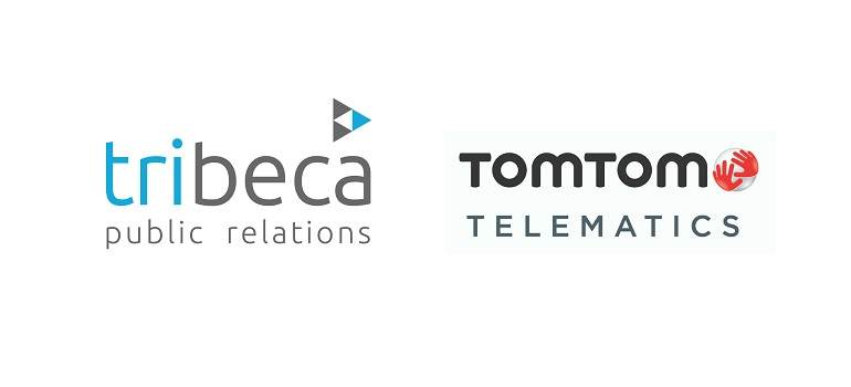 Tribeca PR logo and TomTom Telematics logo