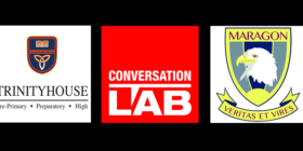 Trinityhouse School logo, Conversation LAB logo and Maragon School logo