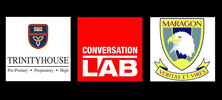 Trinityhouse School logo, Conversation LAB logo and Maragon School logo