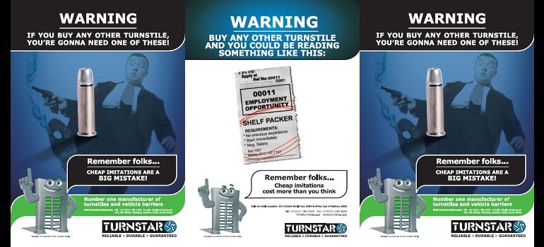 Turnstar 2006 print ads
