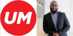UM logo and Kevin Ndinguri