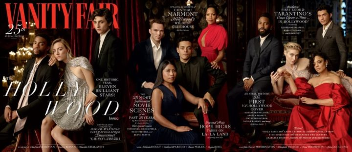 Vanity Fair, 25th Hollywood Issue, January 2019 - full trifold