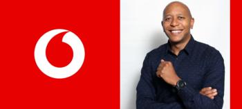 Vodacom logo and Abey Mokgwatsane