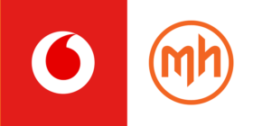 Vodacom logo and Mortimer Harvey logo