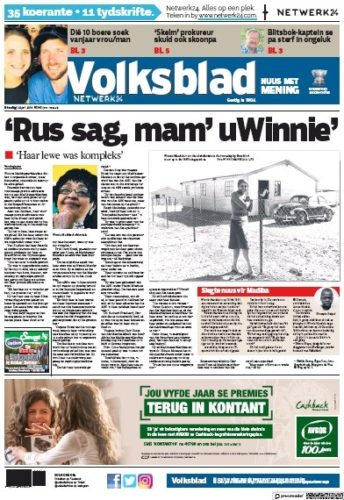 Volksblad, 3 April 2018 - Winnie Madikizela-Mandela