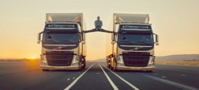 Volvo Trucks Epic Split featured Jean Claude van Damme screengrab