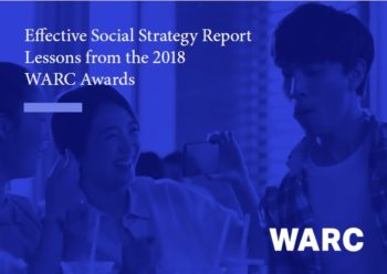 WARC Effective Social Strategy Report 2018 cover