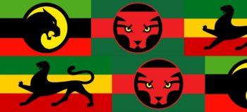 Wakandan flag collage