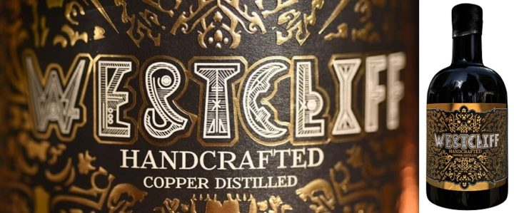 Westcliff Gin label and bottle
