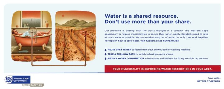 Western Cape Government save water by FCB Cape Town