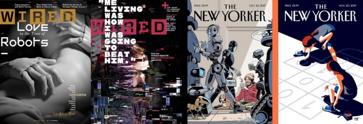Wired, November & December 2017 and The New Yorker, 23 October & 20 November 2017