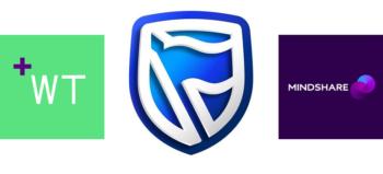 Wunderman Thompson logo, Standard Bank logo and Mindshare logo