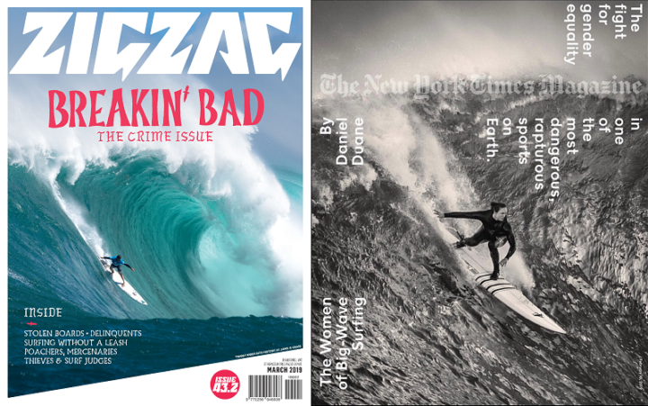 ZigZag, issue 42.2, March 2019 and The New York Times Magazine, 10 February 2019