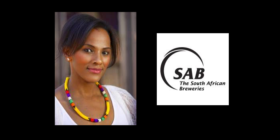 Zoleka Lisa and SAB logo