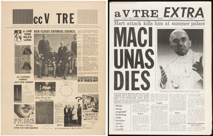 cc V TRE, issue 1 1964, and V TRE EXTRA, issue 11 1979, Fluxus Newspaper