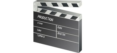 clapper-board-film-movie-152088 courtesy of Pixabay